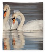 Mute Swans Fleece Blanket