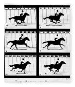 Muybridge: Horse Fleece Blanket