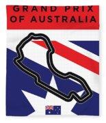 My 2017 Grand Prix Of Australia Minimal Poster Fleece Blanket