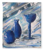 My Blue Vases Fleece Blanket