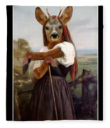 My Deer Shepherdess Fleece Blanket