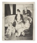 My Family, Second Stone George Bellows  Fleece Blanket