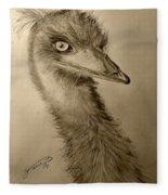 My Friend Emu Fleece Blanket