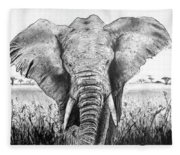 My Friend The Elephant II Fleece Blanket