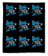 My Goal Is To Deny Yours Goalie Pattern Fleece Blanket