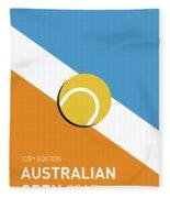 My Grand Slam 01 Australian Open 2017 Minimal Poster Fleece Blanket