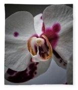 My Growling Dragon Orchid. Fleece Blanket