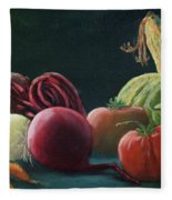 My Harvest Vegetables Fleece Blanket