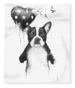 My Heart Goes Boom Fleece Blanket