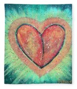 My Heart Loves You Fleece Blanket