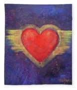 My Heart My Strength Fleece Blanket