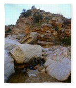 My Mountain Hiking Spot Fleece Blanket