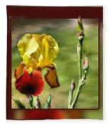 My Painted Iris Fleece Blanket