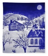 My Take On Grandma Moses Art Fleece Blanket