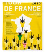 My Tour De France Minimal Poster Etapes 2015 Fleece Blanket
