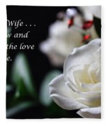 For My Wife - Expressions Of Love Fleece Blanket