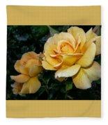 My Yellow Rose Fleece Blanket
