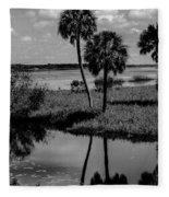 Myakka River Reflections Fleece Blanket
