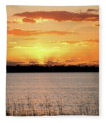 Myakka Sunset Fleece Blanket