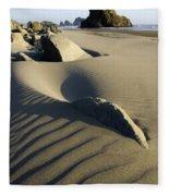 Myers Creek Beach Oregon 1 Fleece Blanket