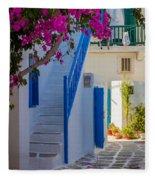 Mykonos Staircase Fleece Blanket