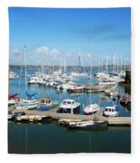 Mylor Marina Cornwall Fleece Blanket