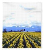 Myriads Of Daffodils Fleece Blanket
