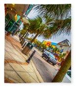 Myrtle Beach Shopping Fleece Blanket