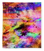 Mysterious Sunset Debris Fleece Blanket