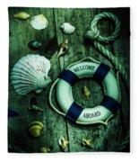 Mystery Aboard The Sunken Cruise Line Fleece Blanket