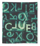 Mystery Writer Clue Fleece Blanket