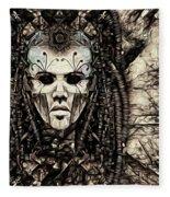 Mystic Future And Past - Ion Prophecies - Monotone  Fleece Blanket