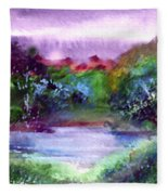Mystic Lake Fleece Blanket