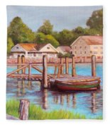 Mystic River View Fleece Blanket