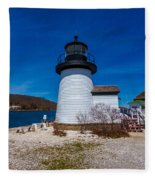 Mystic Seaport Lighthouse Fleece Blanket