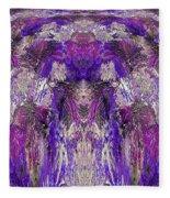 Mystic Waterfall - Purple Hues Fleece Blanket