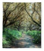 Mystical Angel Oaks  Fleece Blanket