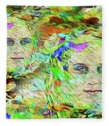 Mystical Eyes Fleece Blanket
