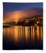 Mystical Golden Gate Bridge Fleece Blanket