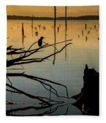 Mystical Sunrise On The Lake Fleece Blanket