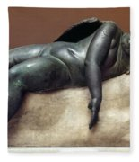 Mythology: Sleeping Eros Fleece Blanket