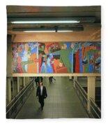 N Y C Subway Scenes # 45 Fleece Blanket