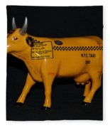 N Y C  Taxi Cow Fleece Blanket