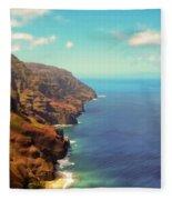 Na Pali Coast Fleece Blanket