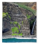 Na Pali Waterfall Fleece Blanket