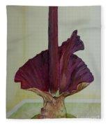 Voodoo Lily 1a Fleece Blanket