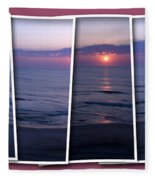 Nags Head In Snapshots Fleece Blanket