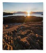 Nahant Ma Castle Rock Carved Rock Fleece Blanket