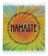 Namaste Divine And Honor Swirl Fleece Blanket