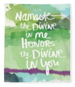 Namaste- Watercolor Card Fleece Blanket